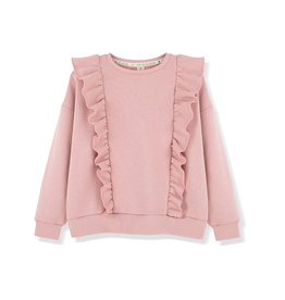 Kids on the moon MELLOW ROSE FRILL SWEATSHIRT