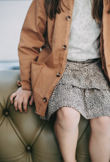 House of Jamie Ruffled Skirt | Charcoal little leopard
