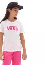 Vans FLYING V CREW TEE | GIRLS wit met roze opdruk