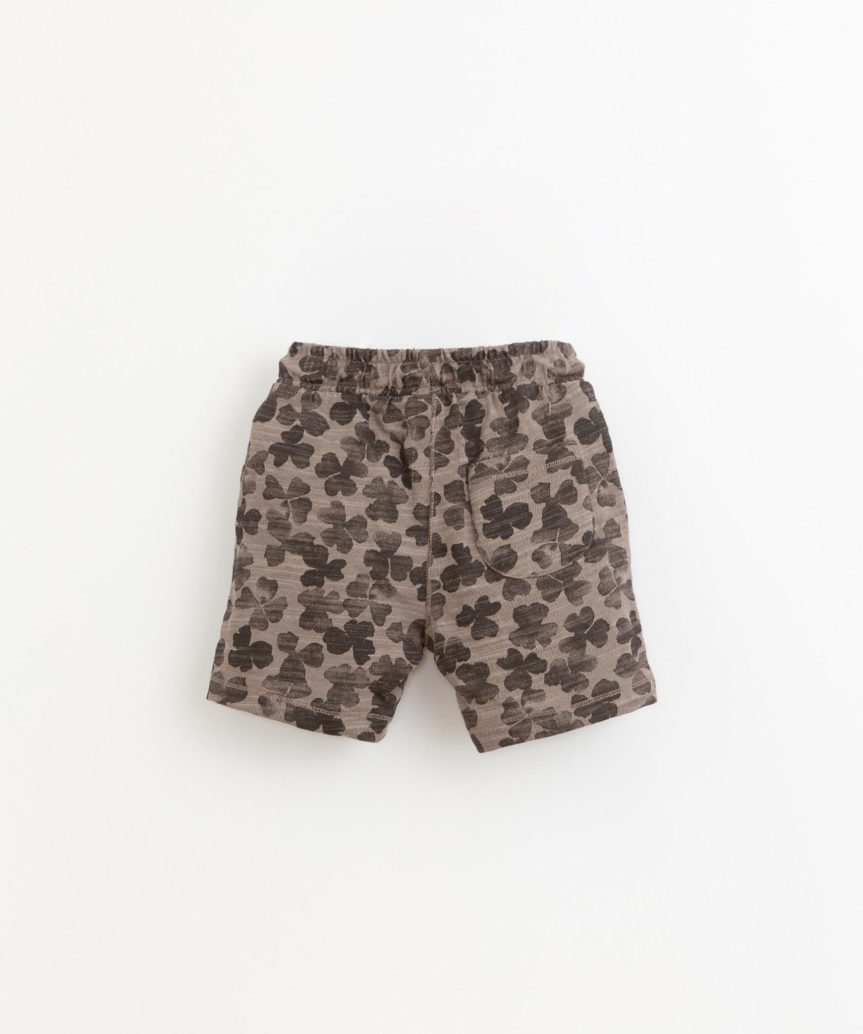 Play-up Printed flame jersey shorts | Heidi