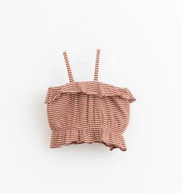 Play-up Striped rib top | Farm