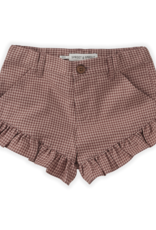 Sproet & Sprout SHORT RUFFLE MINI CHECK