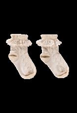 House of Jamie Ankle Socks Pelerine | Oatmael & lace