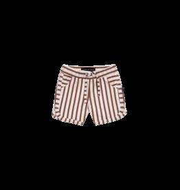 House of Jamie Swim Gym Shorts | Baked clay stripes