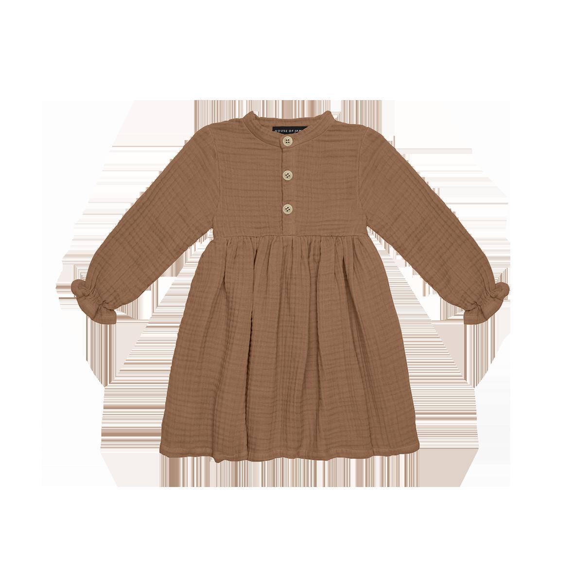 House of Jamie High Waist Dress | Burnt ginger