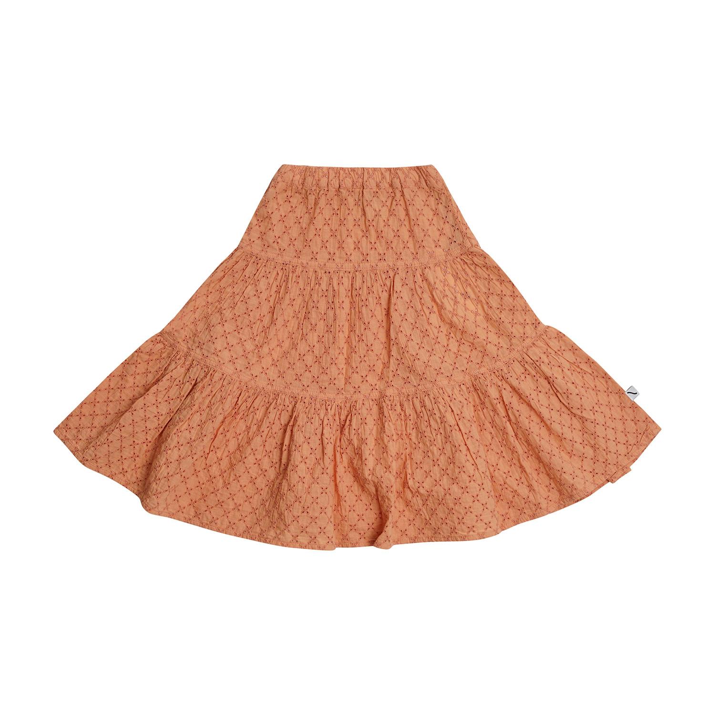 CarlijnQ Broderie woven  Flared skirt