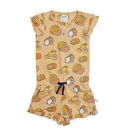 CarlijnQ Summer fruit ruffled jumpsuit
