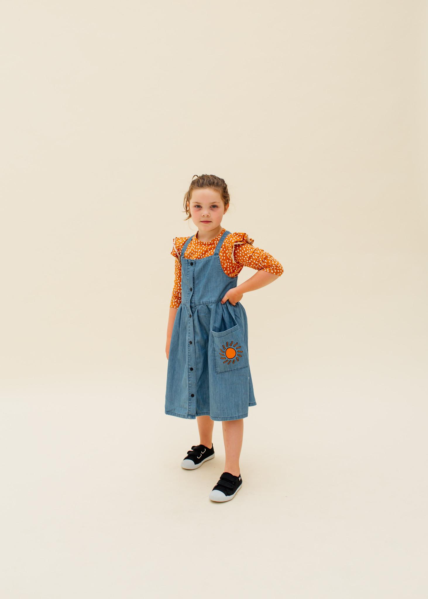 CarlijnQ Denim dress with straps