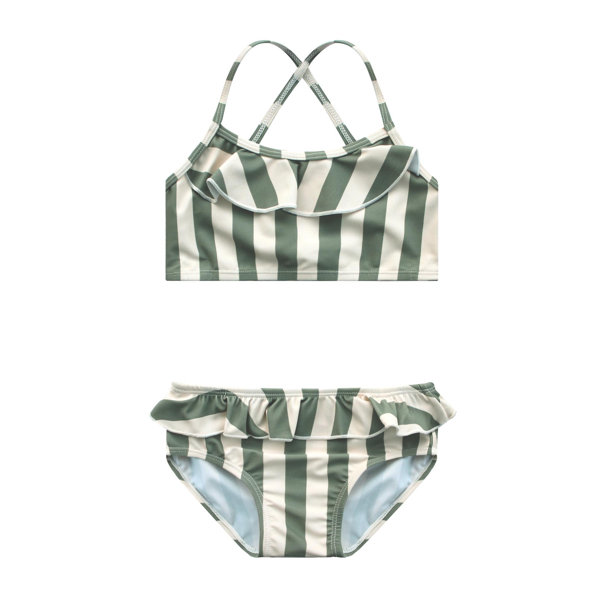 Your Wishes Bold Stripes   Bikini Set