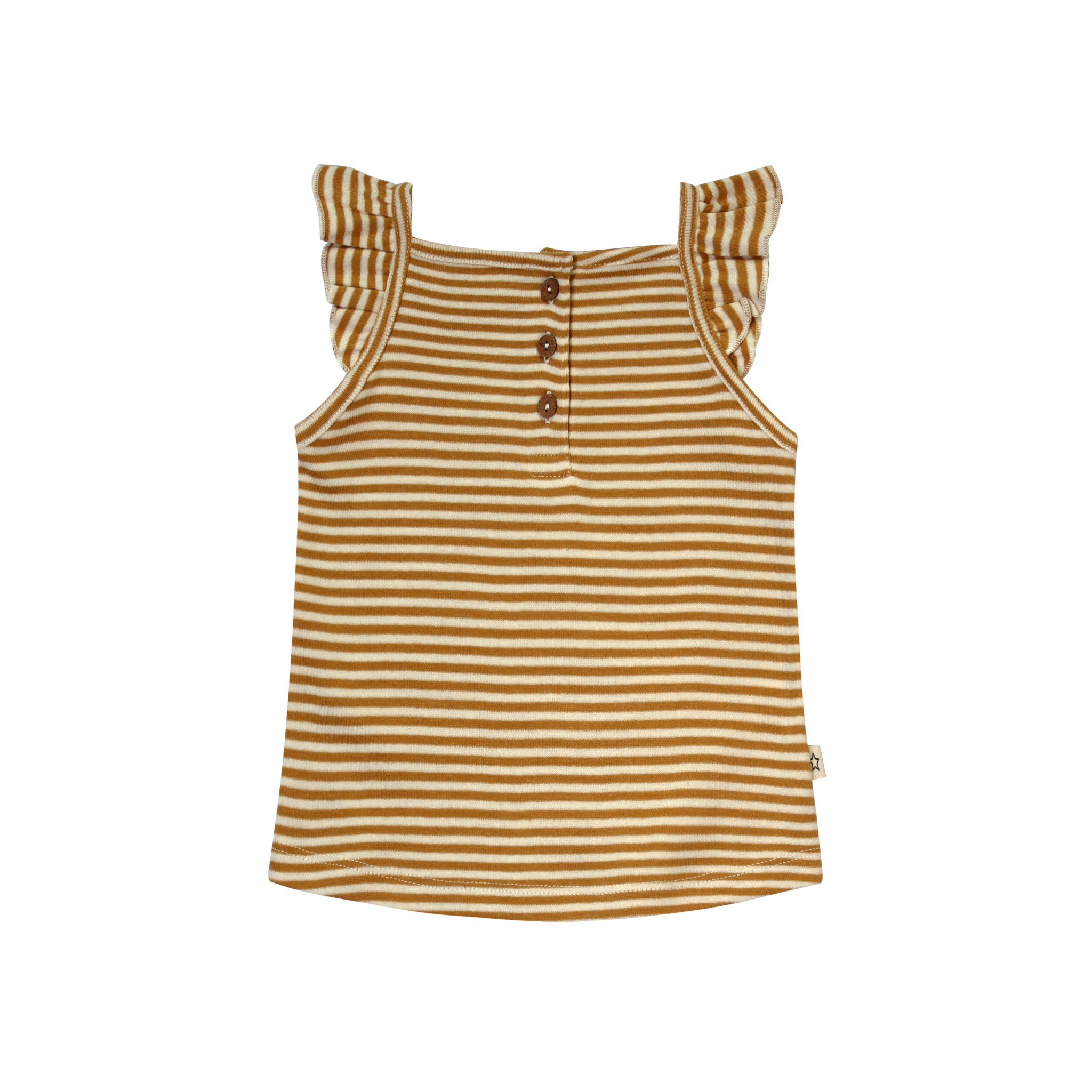 Your Wishes Gold Stripes Ruffle Singlet