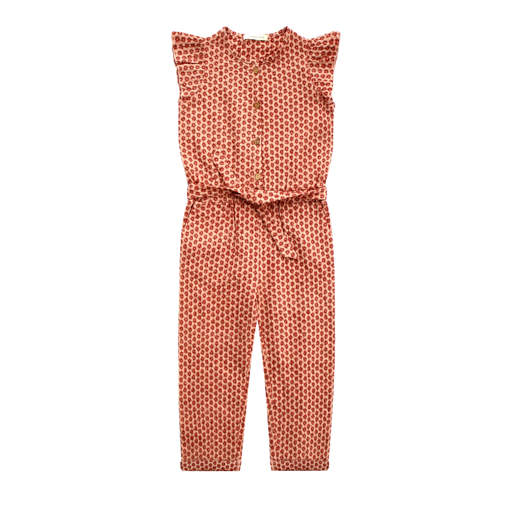 Your Wishes Broderie Terra Ruffle Jumpsuit