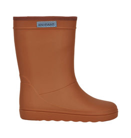 en'fant Rubber Rainboot Solid | Leather brown
