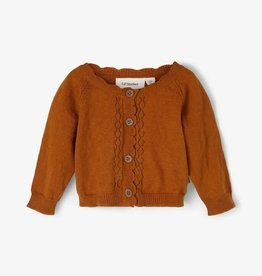 Lil Atelier Drop - stitch cardigan | Glazed Ginger -Melange