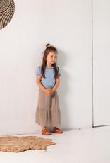House of Jamie Midi skirt Charcoal |vSheer stripes