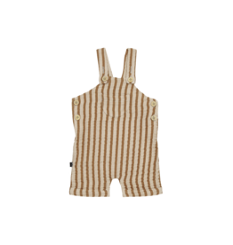 House of Jamie Relaxed Dungaree | Vertical apple cider stripes