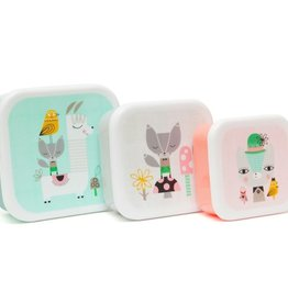 Petit Monkey Lunchbox set Lama & Friends