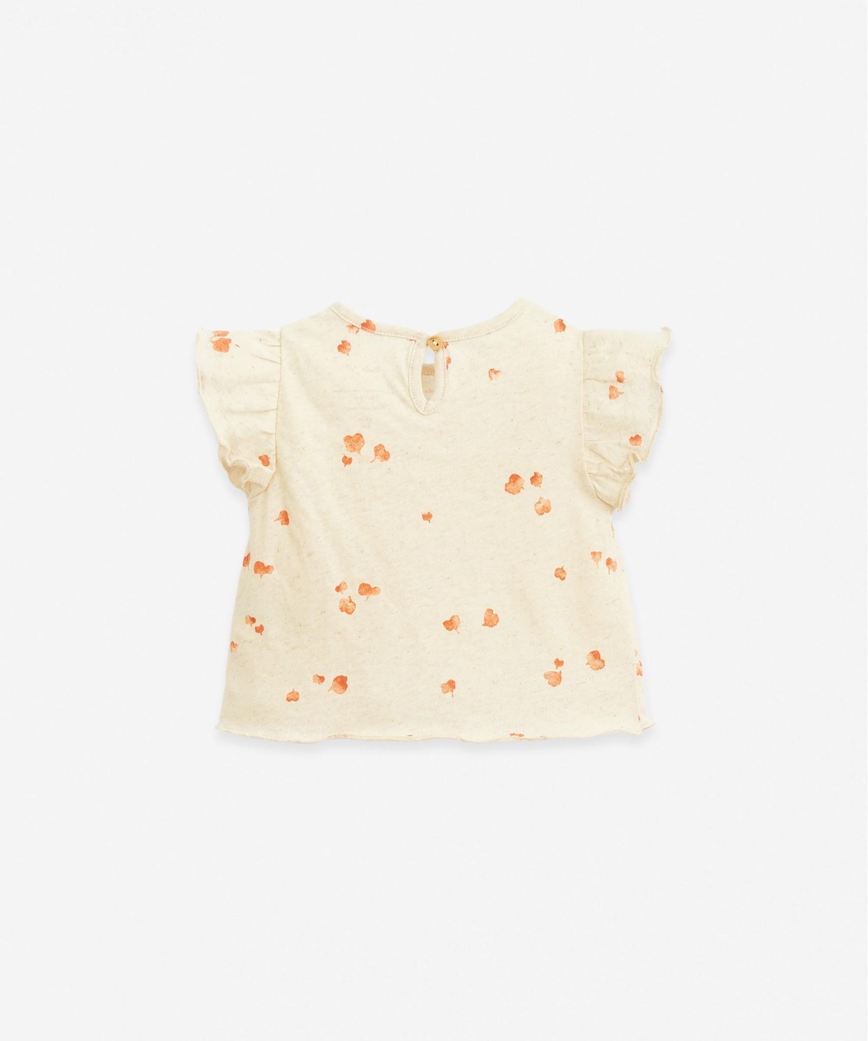 Play-up Printed jersey t- shirt | Mushroom