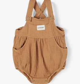 Lil Atelier Overall | Tobacco Brown