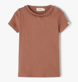 Lil Atelier Slim fit t-shirt | Carob Brown