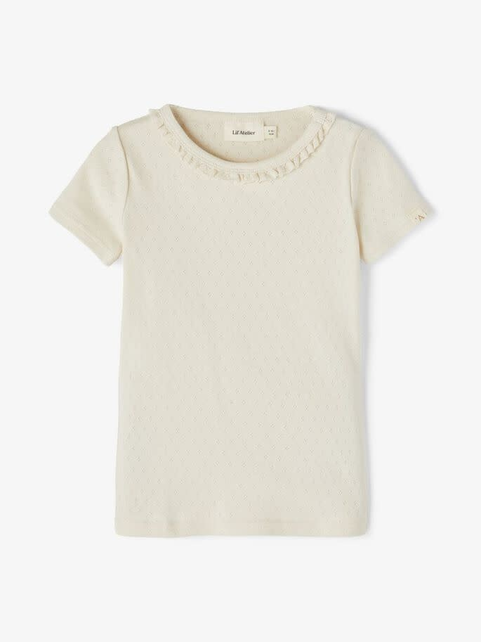 Lil Atelier Slim fit t-shirt | Turtledove