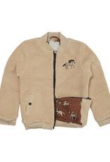 CarlijnQ Wild Horse | teddy bomber jacket wt embroidery