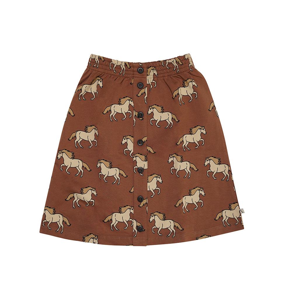 CarlijnQ Wild Horse   skirt wt buttons