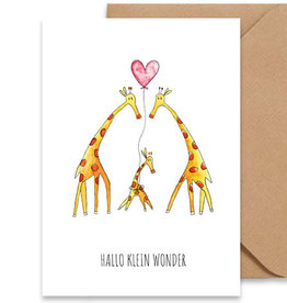Juulz Illustrations Wenskaart | Hallo Klein Wonder