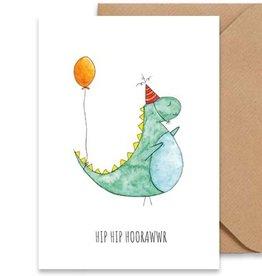 Juulz Illustrations Wenskaart | Hip Hip Hoorawwr