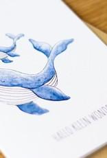 Juulz Illustrations Wenskaart   Hallo Klein Wonder