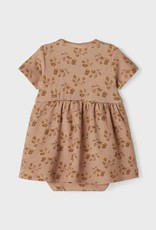 Lil Atelier Body Dress | Leaves Nougat