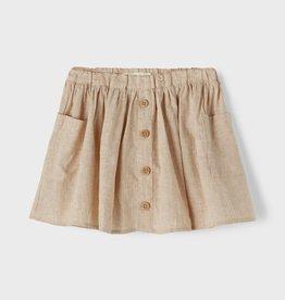 Lil Atelier Solva skirt tabacco brown