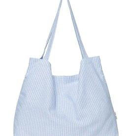 Studio Noos Blue striped linen mom bag