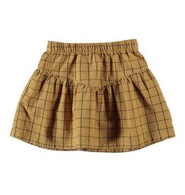 "piupiuchick Short skirt ""v"" shape | camel checkered"