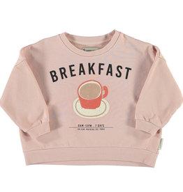 piupiuchick Unisex sweatshirt | light pink w/ breakfast print
