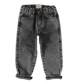 piupiuchick Unisex denim trousers | washed black denim