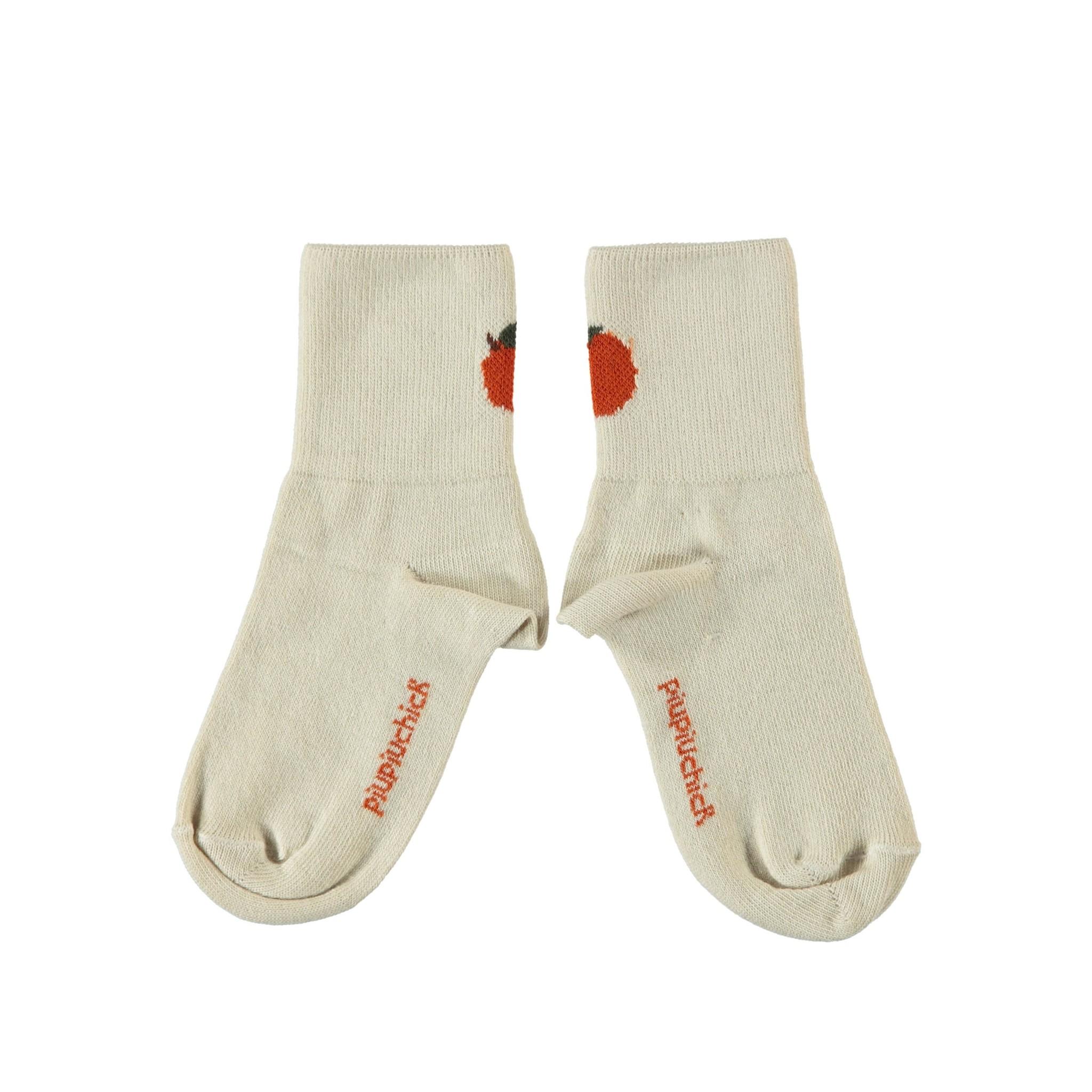 piupiuchick Short socks, with back peach detail