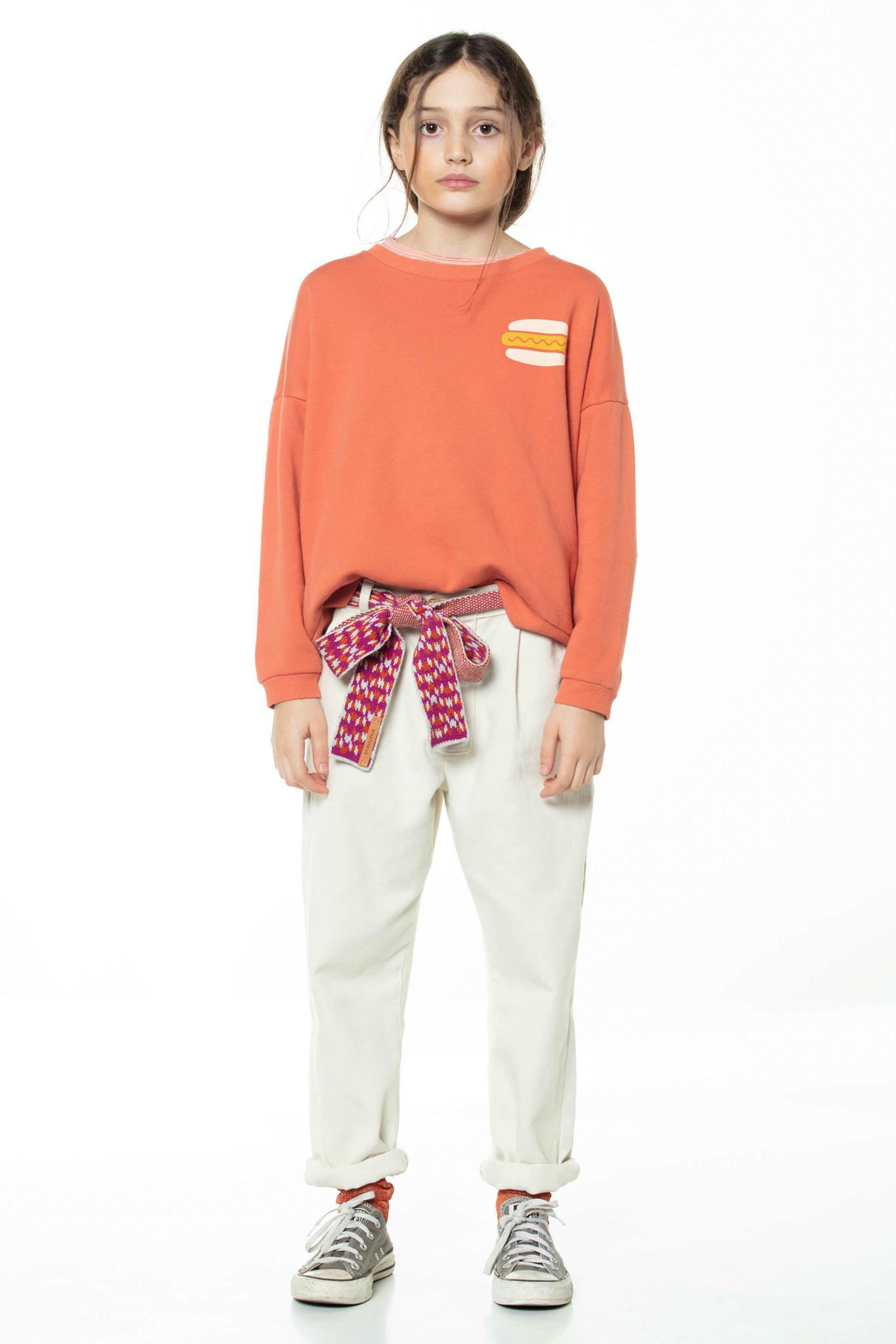 piupiuchick Unisex sweatshirt | brick w/ hot dog print