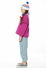 "piupiuchick Sweatshirt w/ frills on shoulders  | fuchsia w/ ""the breakfast club"" print"