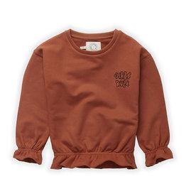 Sproet & Sprout Ruffle sweatshirt girls rule