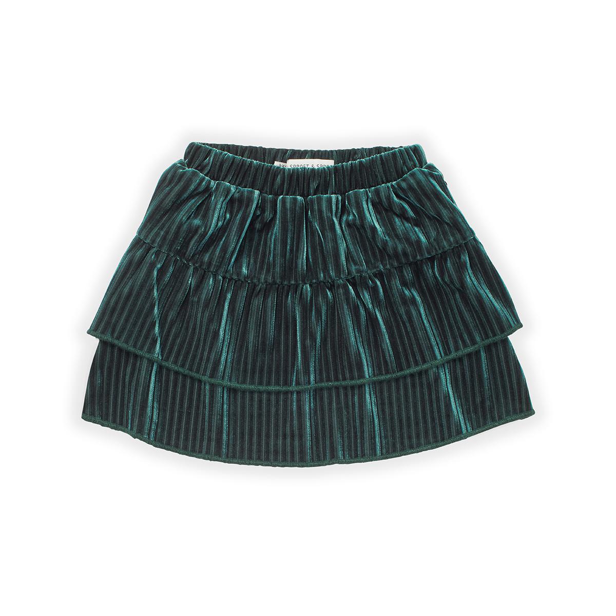 Sproet & Sprout Skirt velvet pleats
