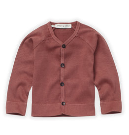 Sproet & Sprout Baby rib cardigan fig