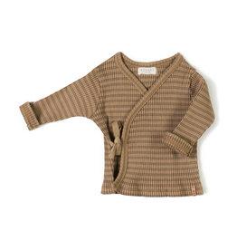 Nixnut Rib vest Stripe Choco