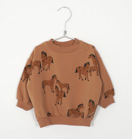 Lötie kids Baby Sweatshirt Horses | peach
