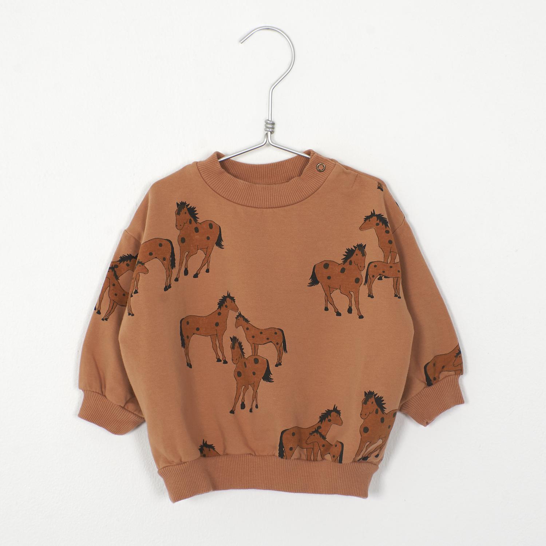 Lötie kids Baby Sweatshirt Horses   peach
