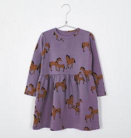 Lötie kids Dress Waist Seam Horses | lilac