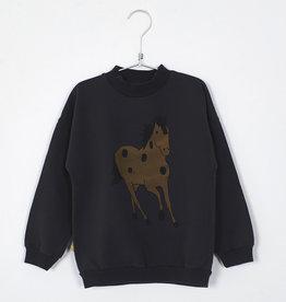 Lötie kids Sweatshirt Horse | vintage black
