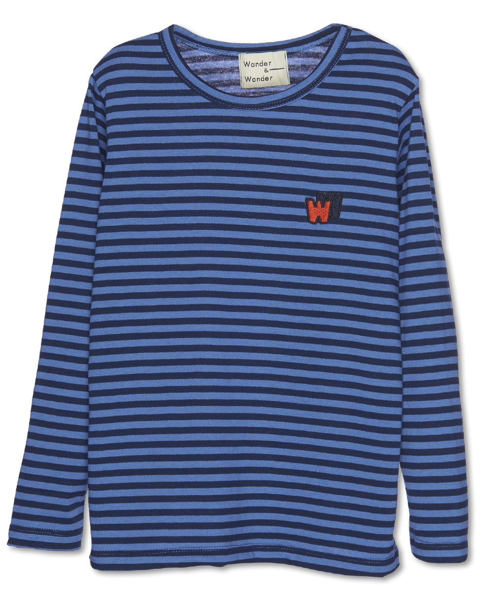 Wander & Wonder W&W Tee | mist stripe