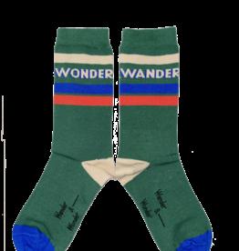 Wander & Wonder Stripe Socks | emerald