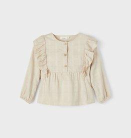 Lil Atelier Lange Mouwen Rushes Overhemd