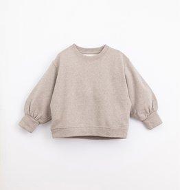Play-up Fleece Sweater| Concrete